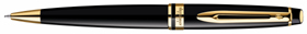 Laquer black Waterman Expert ballpoint pen, GT.