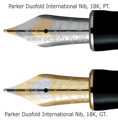 Parker Duofold International Platinum Trim Broad Nib