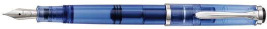 M205 Pelikan Transparent Blue fountain pen.
