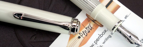 m605 Pelikan Souveran White fountain pen.