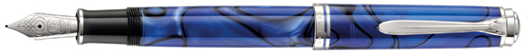M805 Pelikan Blue Dunes fountain pen.