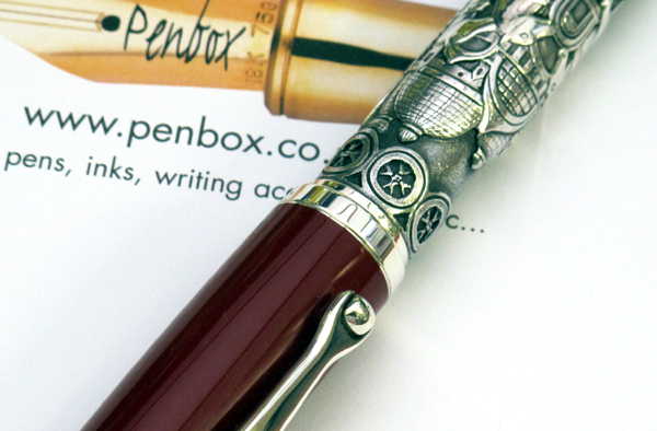 Montegrappa Venezia fountain pen in silver.