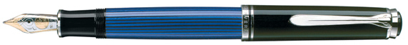 Black and Blue Pelikan 805 fountain pen.