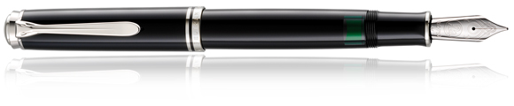 Pelikan M1005 Black fountain pen.