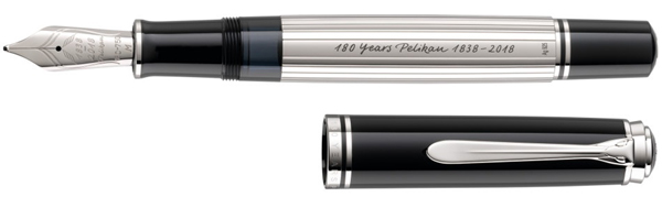 Limited edition Pelikan Spirit of 1838 silver fountain pen.