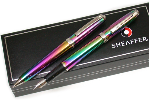 Rainbow Sheaffer Prelude twin set on special offer from Penbox.