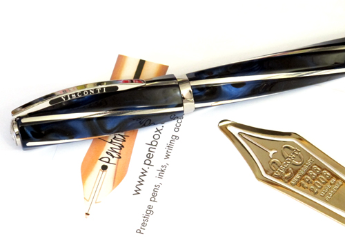 Limited edition Typhoon Blue Visconti Divina fountain pen.