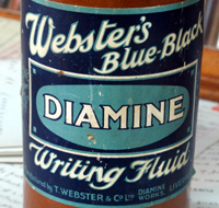 Westers Diamine ink bottle.